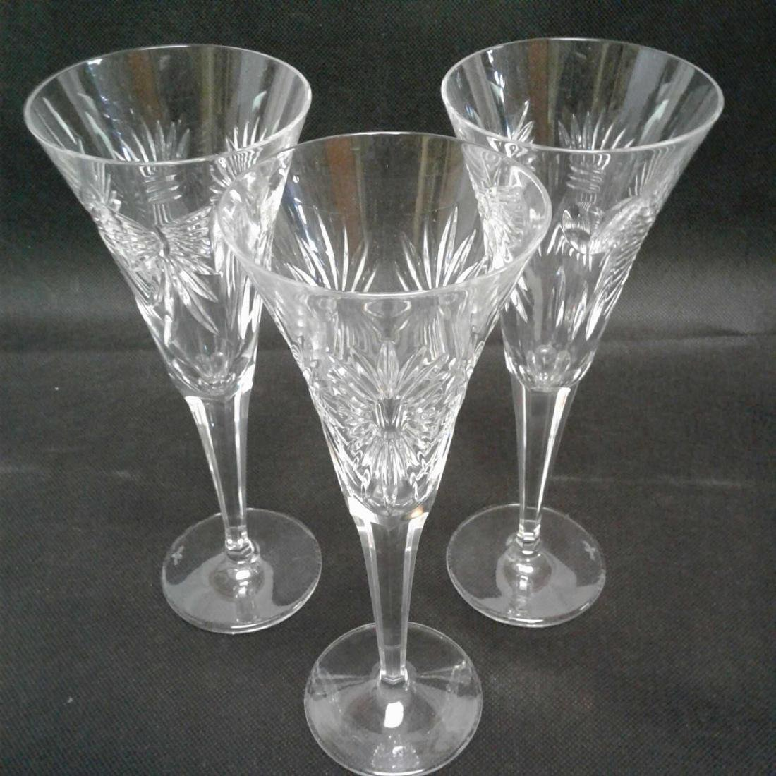 3 Waterford Millennium Toasting Flutes