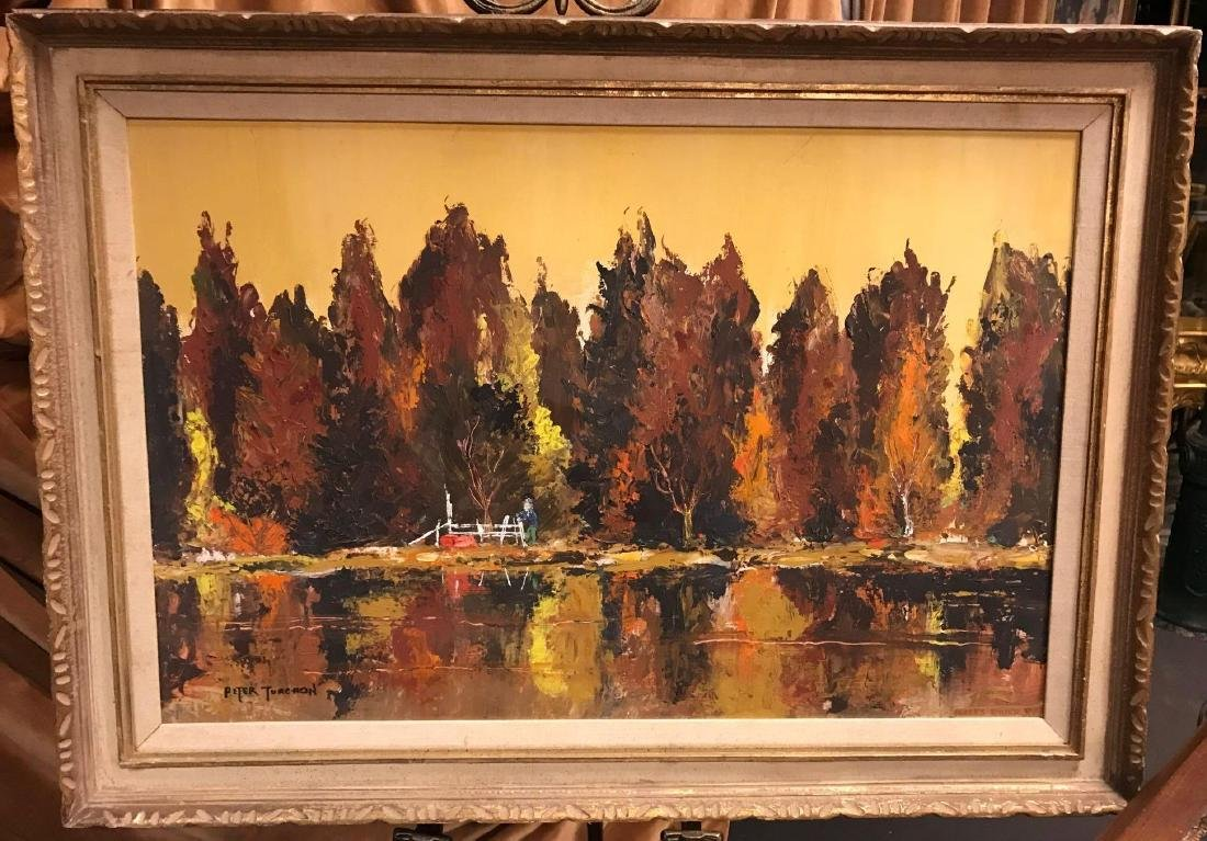 Oil on Board Painting Signed Peter Turchon