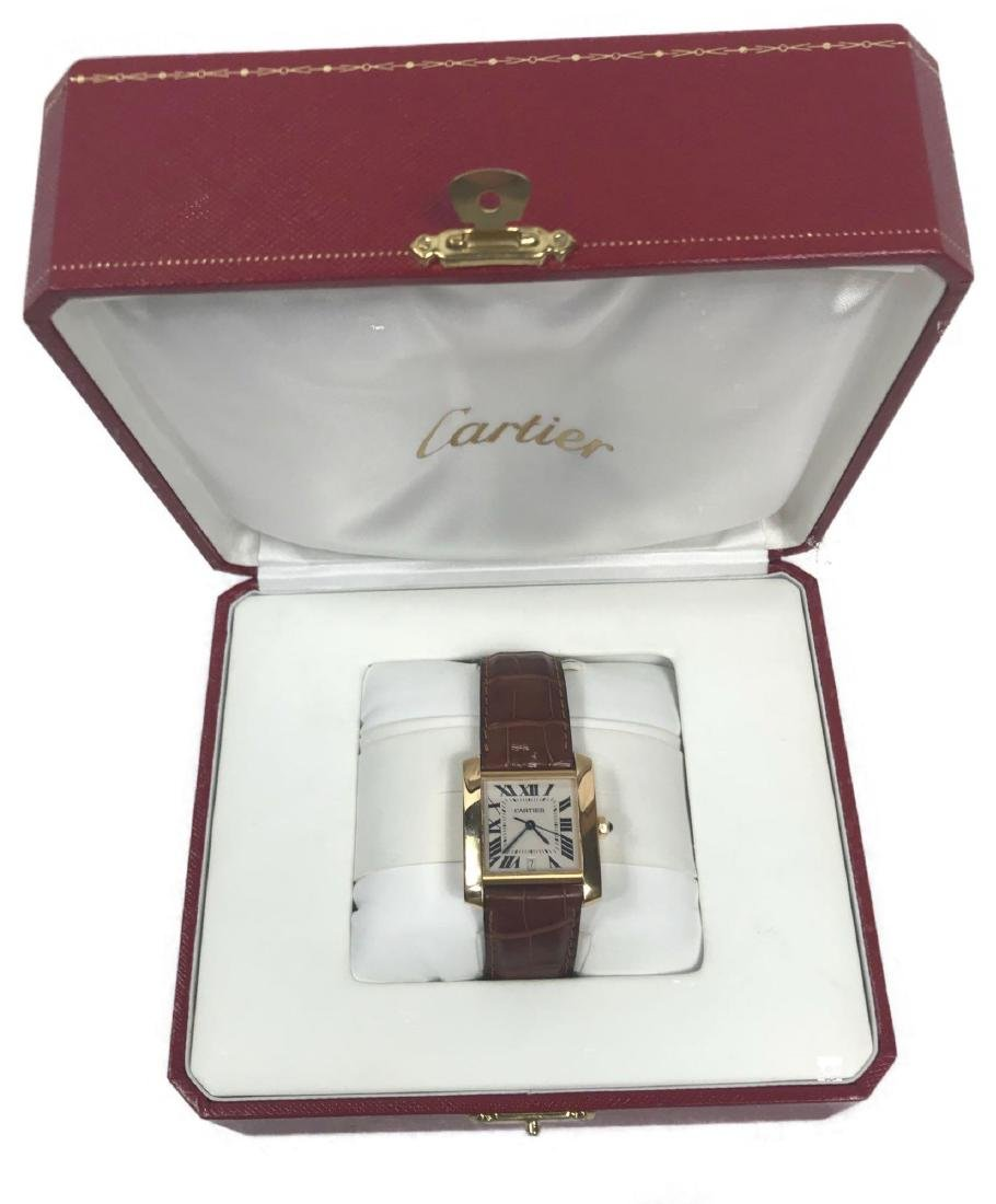 Cartier 18k Gold Francaise Tank Watch