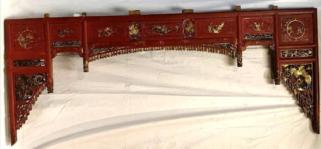 Large Wooden Chinese Architecture Piece