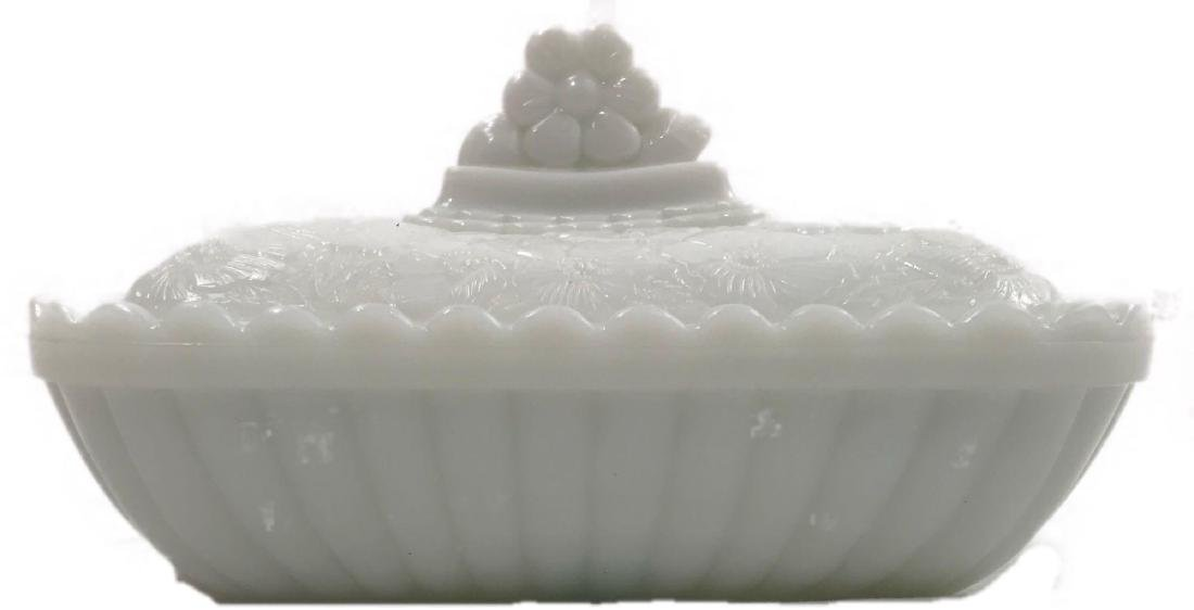 Vintage Imperial Milk Glass Covered Dish