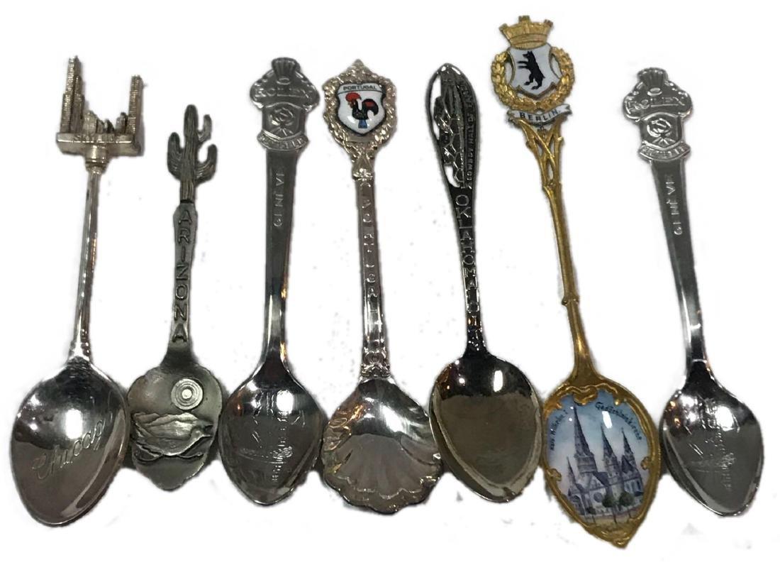 7 Vintage Travel Souvenir Spoons