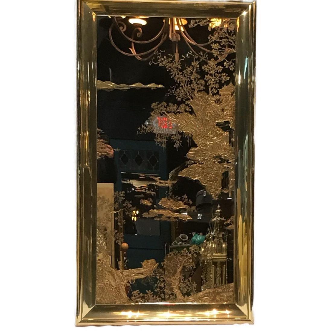 Sebet Silverman Gold Leaf Nurre Mirror