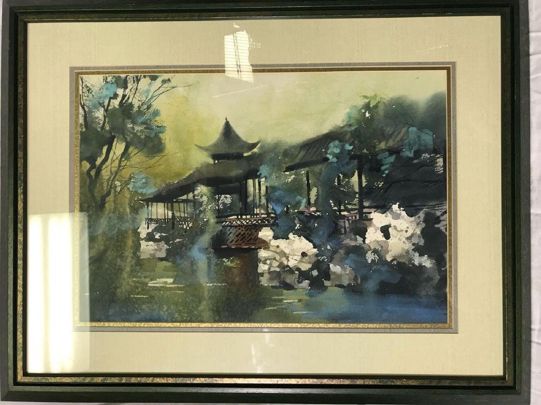 Mrs. Z.L. Feng Original Signed Watercolor Painting