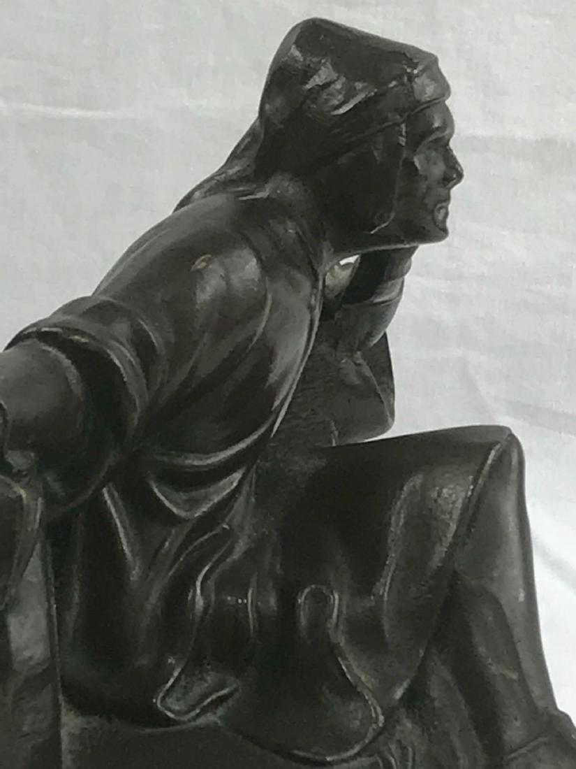 Vintage Signed Bronze Statue - 10