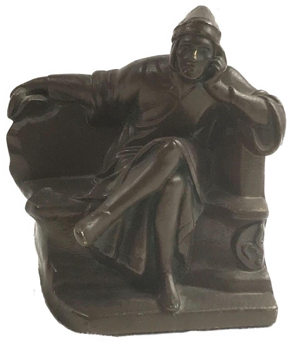 Vintage Signed Bronze Statue