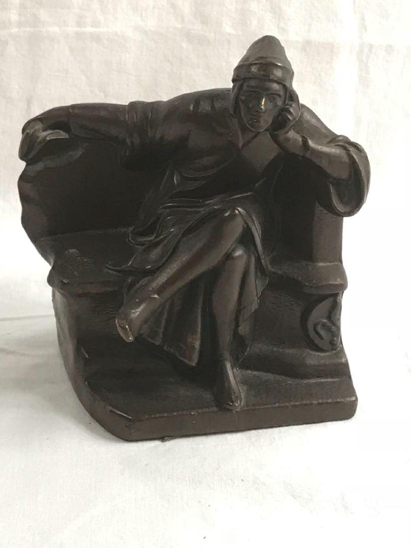 Vintage Signed Bronze Statue - 3