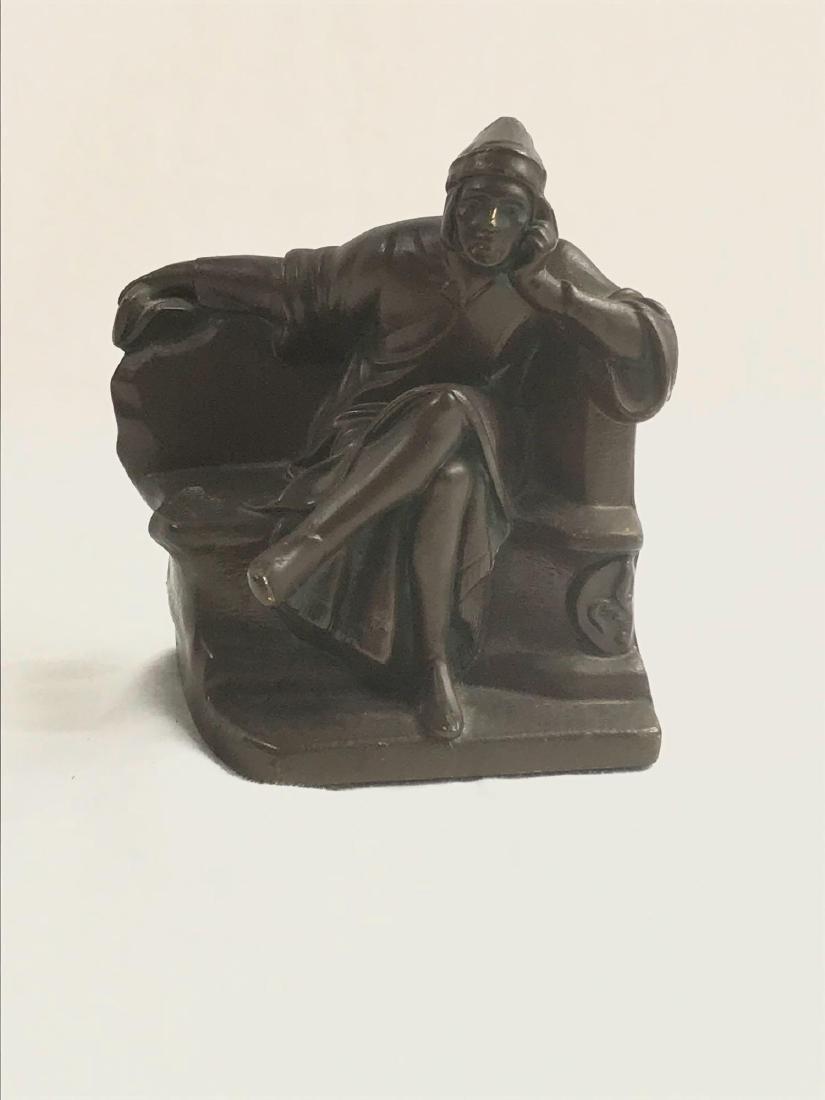 Vintage Signed Bronze Statue - 4