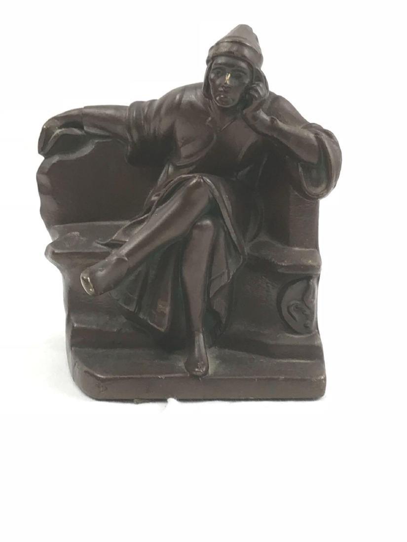 Vintage Signed Bronze Statue - 6
