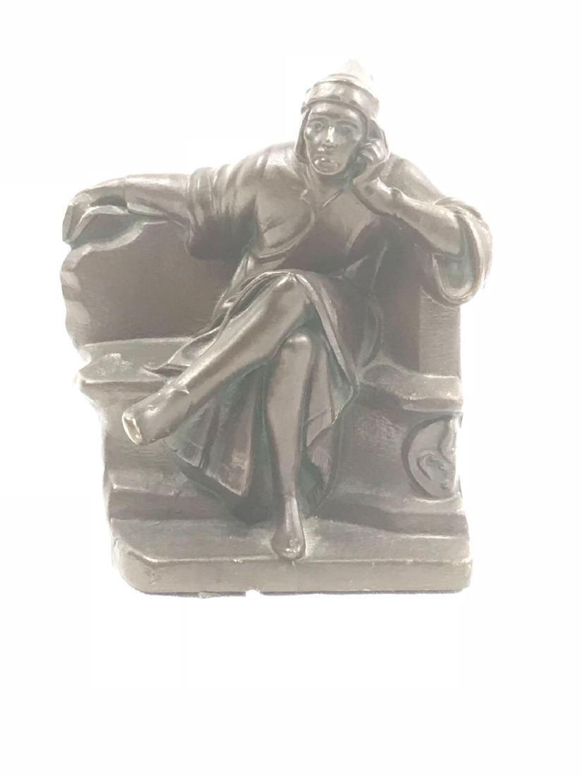 Vintage Signed Bronze Statue - 7