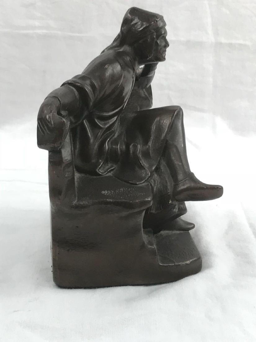 Vintage Signed Bronze Statue - 8
