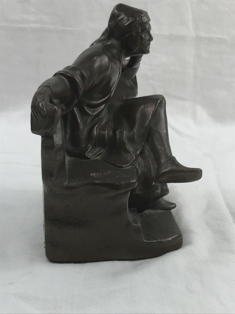Vintage Signed Bronze Statue - 9