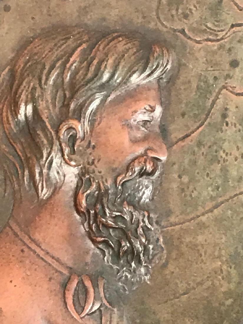 2 Vintage Hammered Bronze Art Pieces - 10