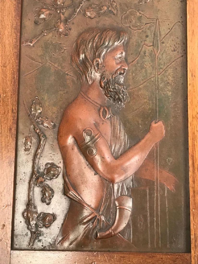 2 Vintage Hammered Bronze Art Pieces - 3