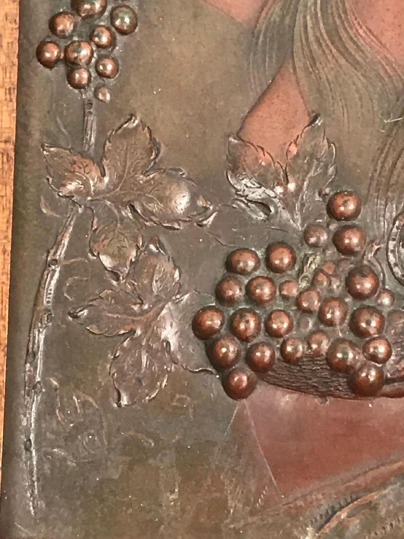 2 Vintage Hammered Bronze Art Pieces - 5