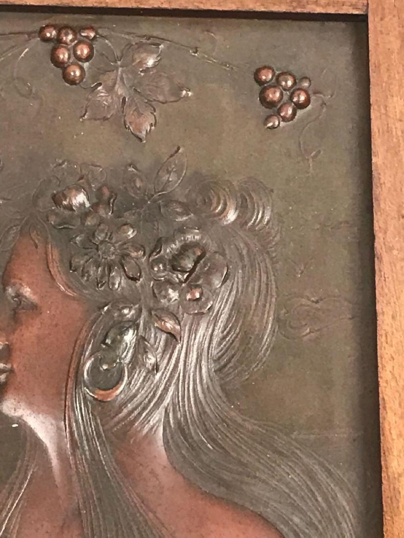 2 Vintage Hammered Bronze Art Pieces - 7