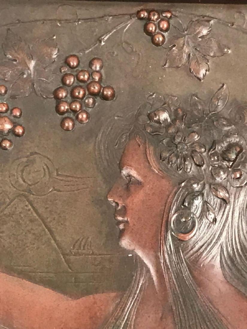 2 Vintage Hammered Bronze Art Pieces - 8