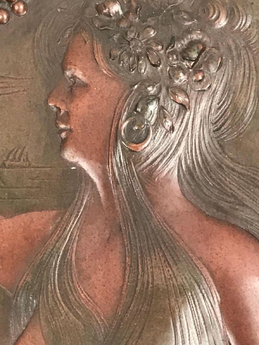 2 Vintage Hammered Bronze Art Pieces - 9