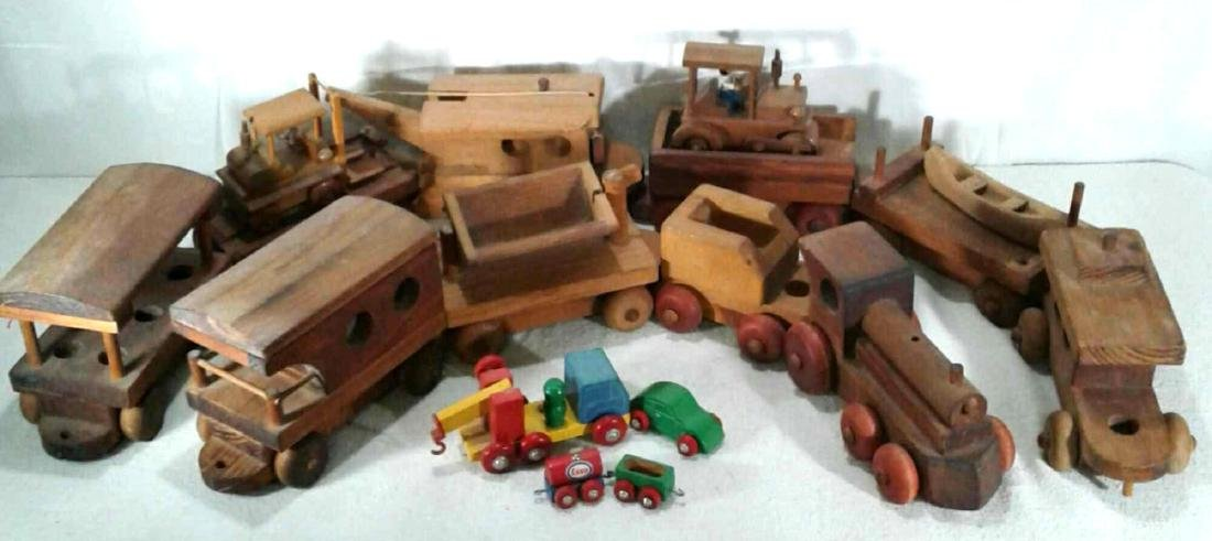 Vintage Montgomery Schoolhouse Wooden Train Set