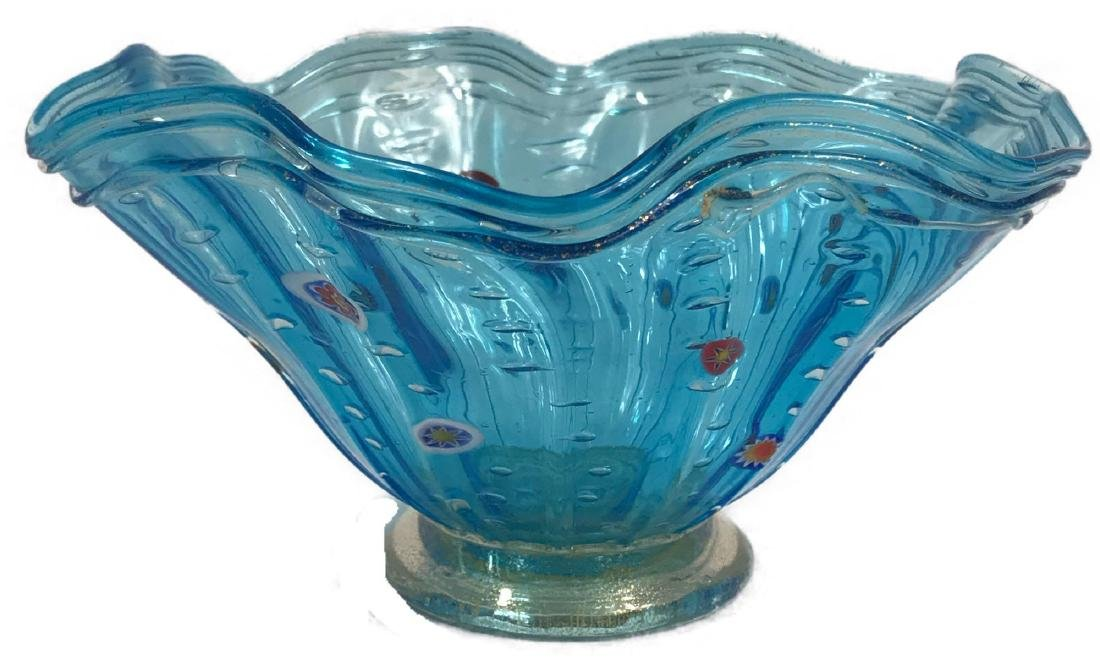 Murano Glass Candy Dish, Signed