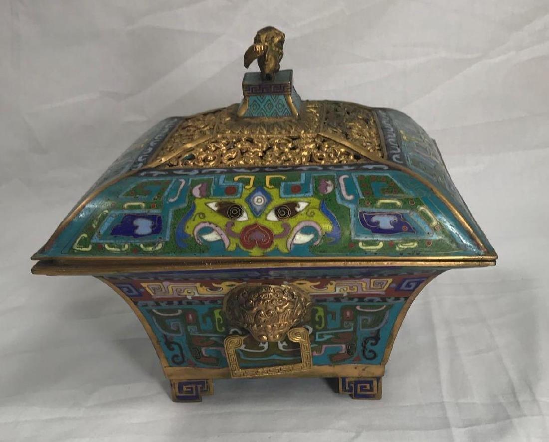 Antique Chinese Cloisonne Incense Burner