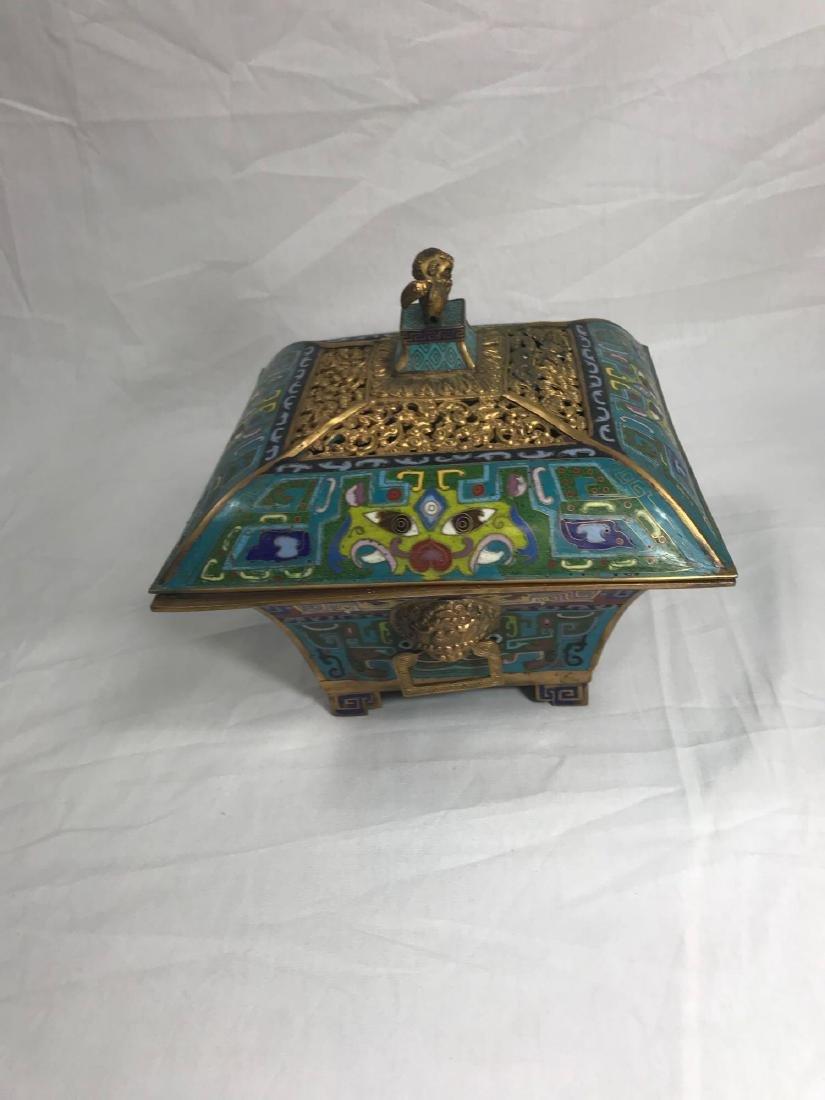 Antique Chinese Cloisonne Incense Burner - 2