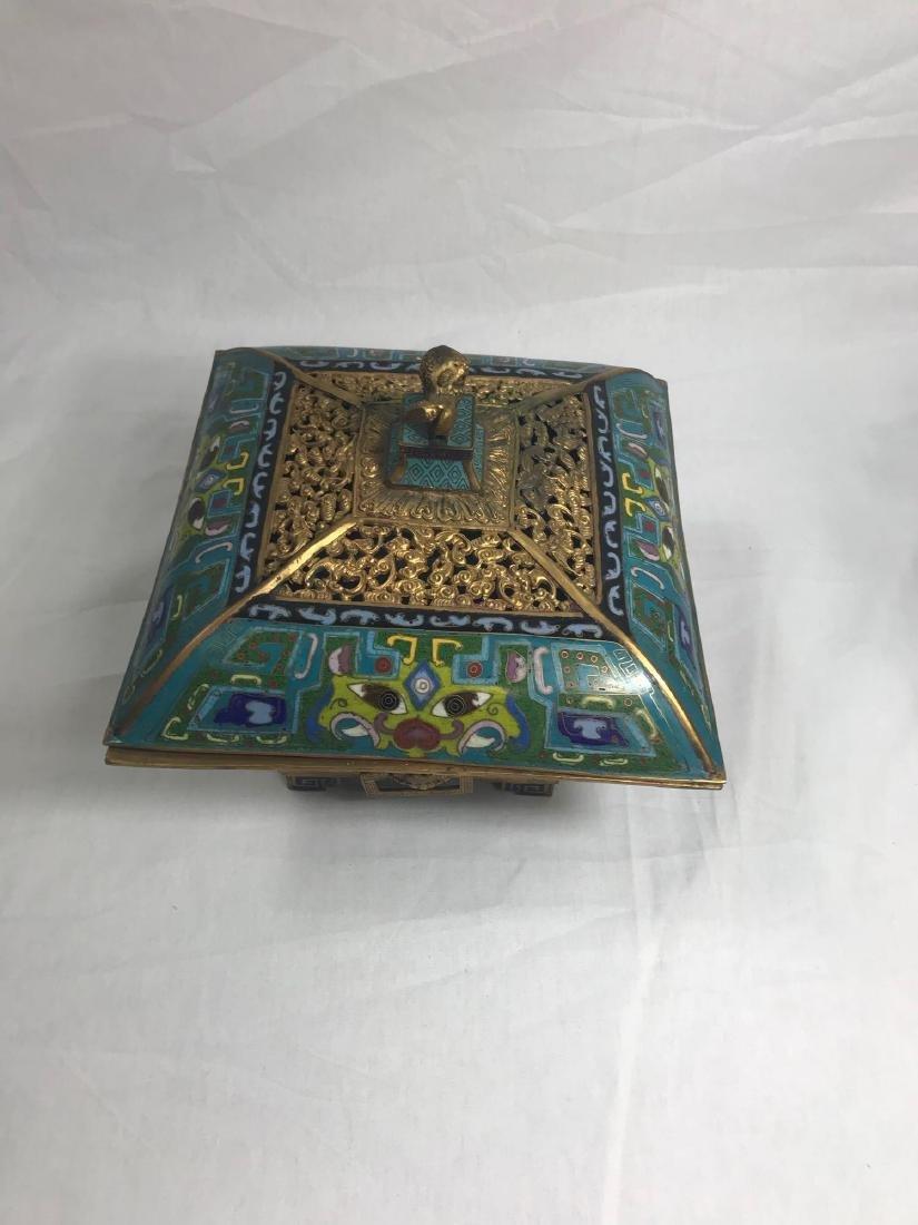 Antique Chinese Cloisonne Incense Burner - 3