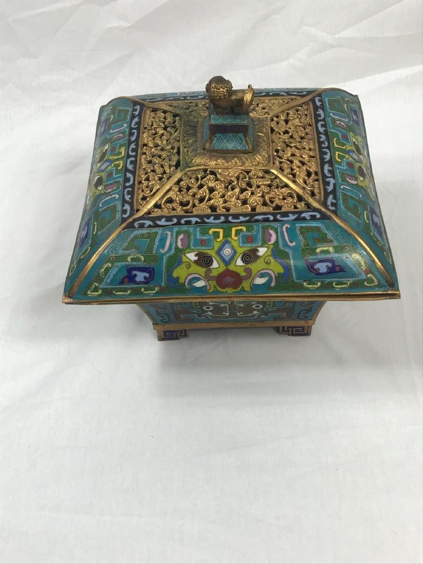 Antique Chinese Cloisonne Incense Burner - 7