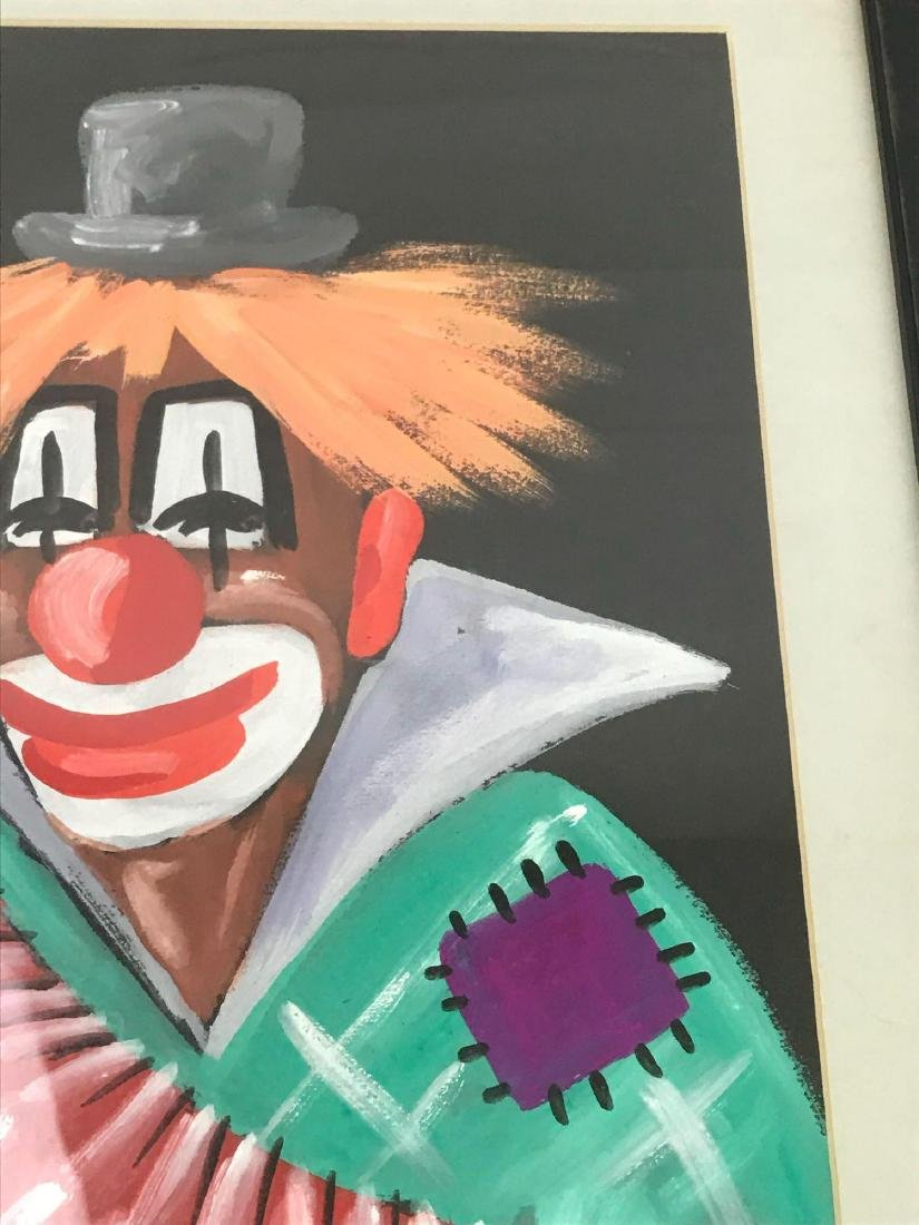 Luky Paris Clown with Accordion Framed Art - 5