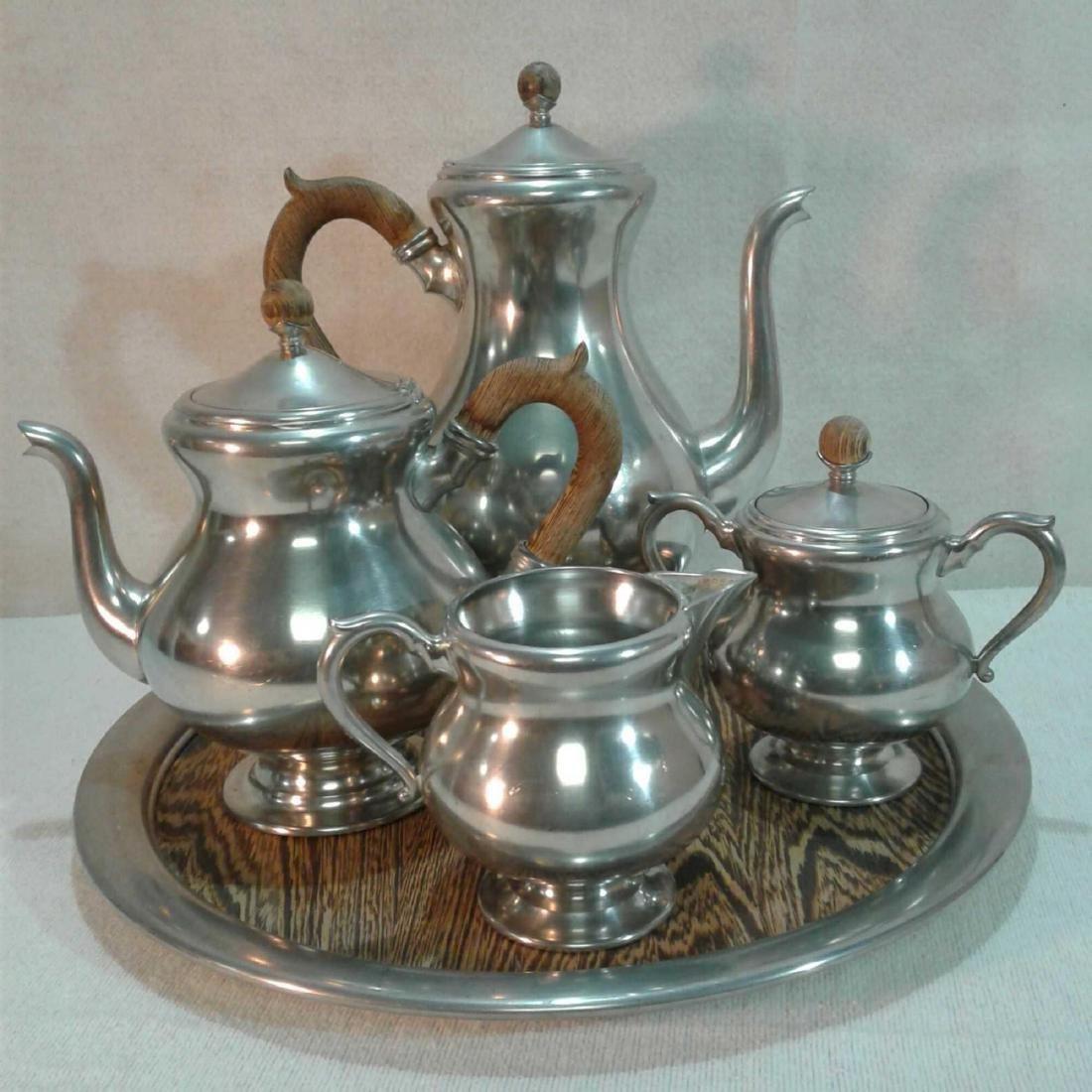 Royal Holland Pewter Coffee & Tea Set (5 Pieces)