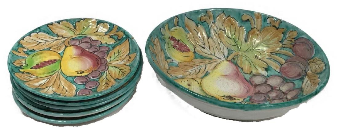 Hand-painted Terracotta Salad Set