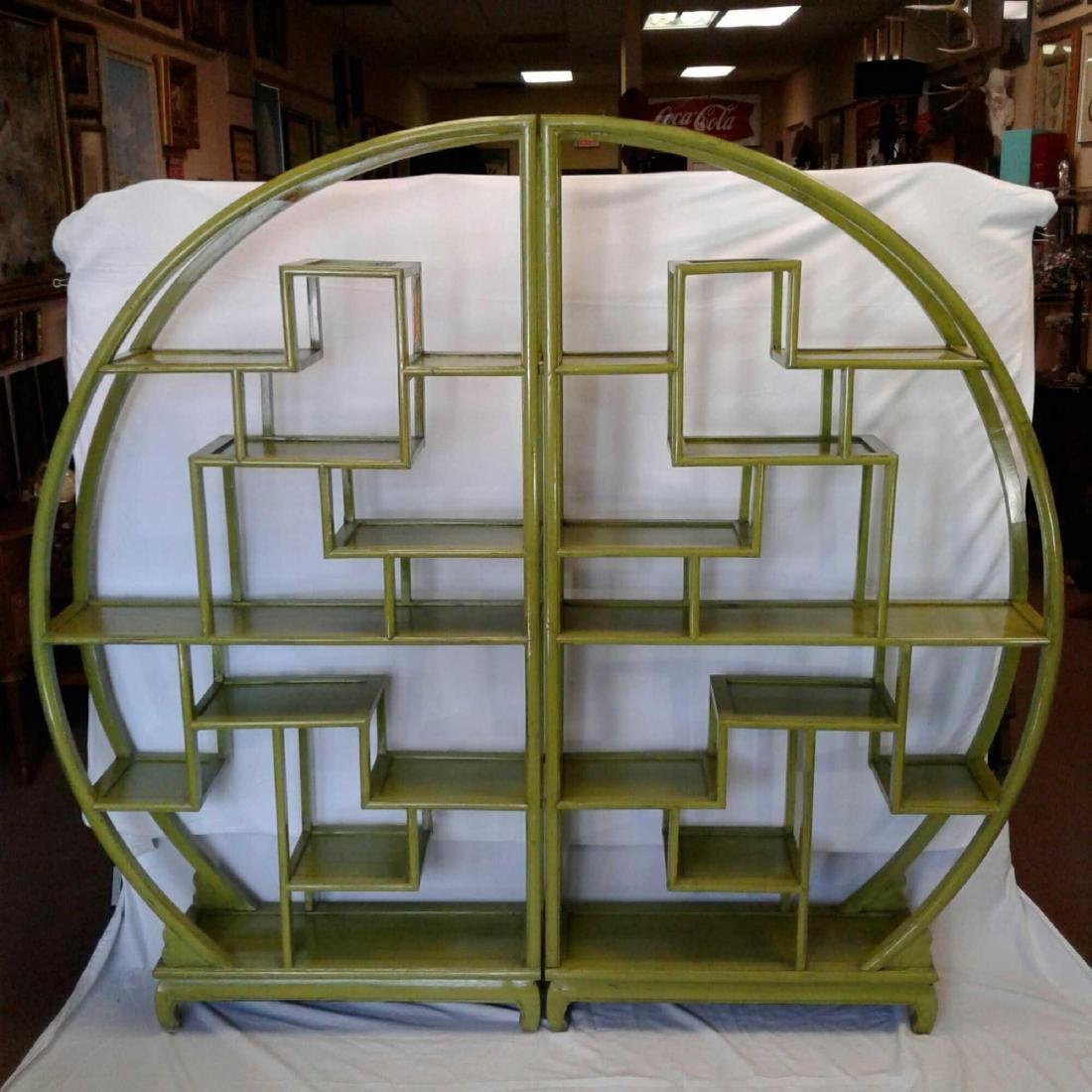 Oval Green Display Wall Shelve