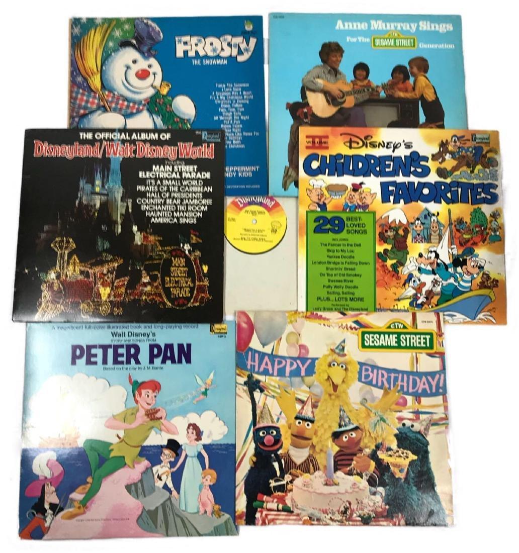 Seven Vintage Children's Vinyl LP Records