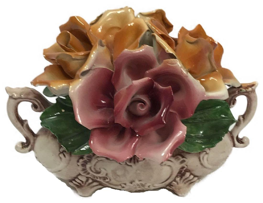 Capidimonte Porcelain Floral Display