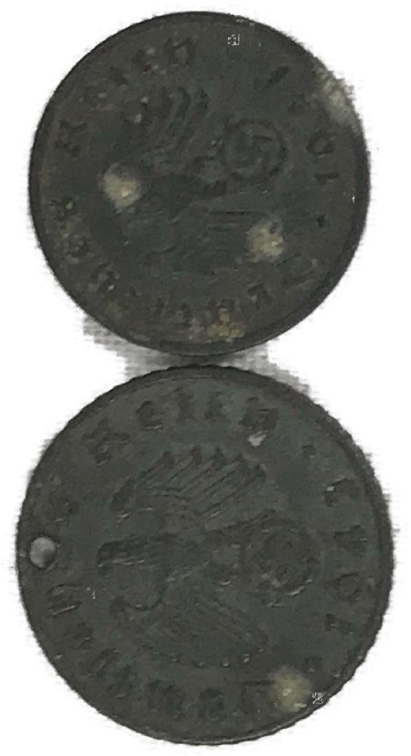 Two German Coins, One Pre WWI, One Nazi Period