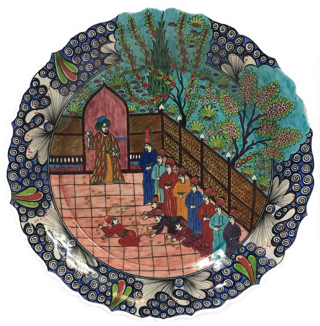 Middle Eastern Large Porcelain Plate
