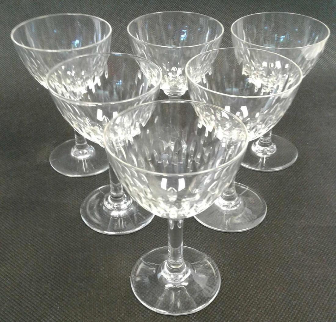 6 Baccarat Aperitif Glasses