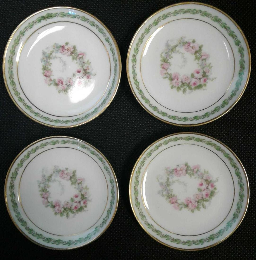 4 Small Limoges Butter Pat Dishes