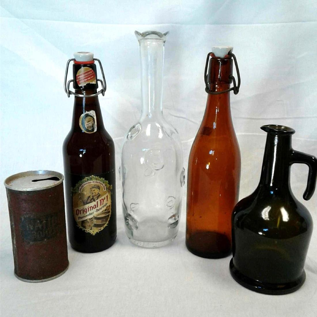 Assortment of Five Vintage Containers