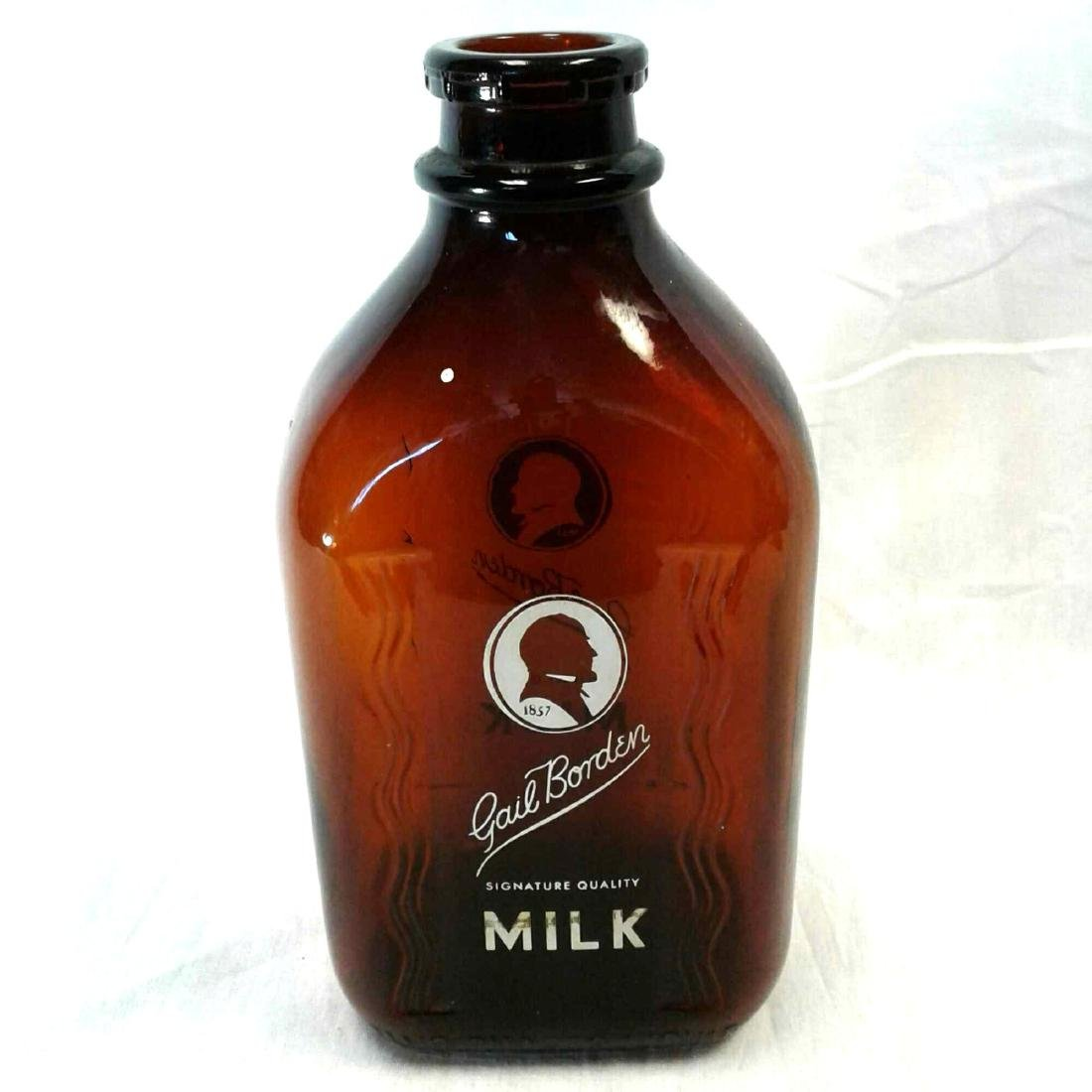 Gail Borden Milk Bottle