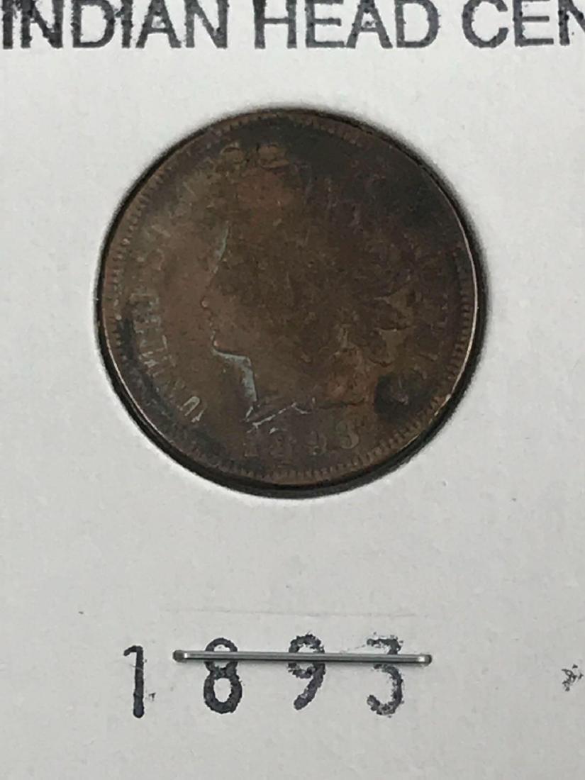 6 Indian Head U.S. One Cent Coin - 10