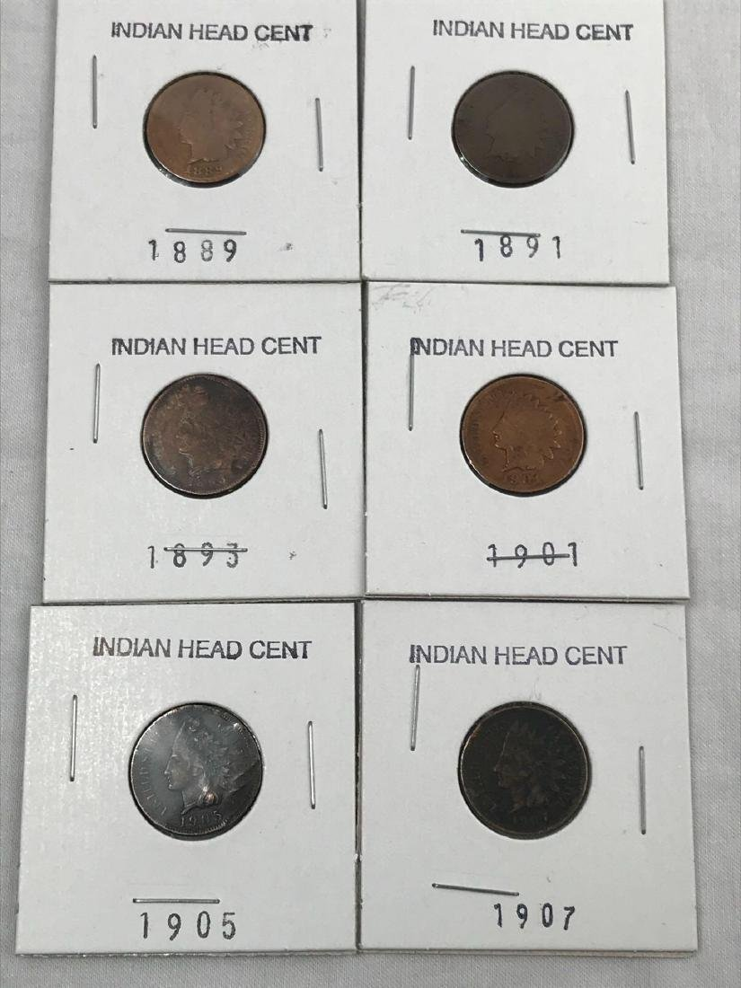 6 Indian Head U.S. One Cent Coin - 2