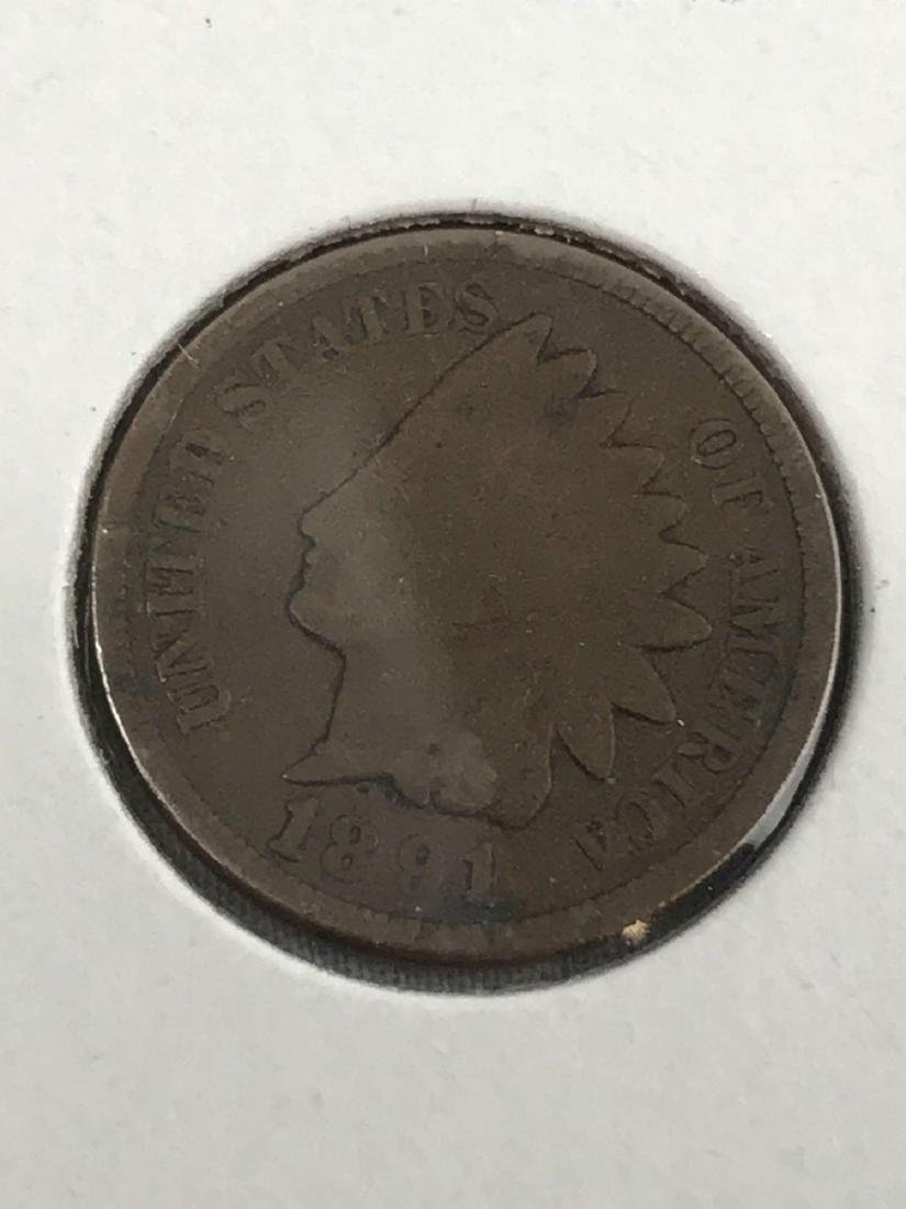 6 Indian Head U.S. One Cent Coin - 6