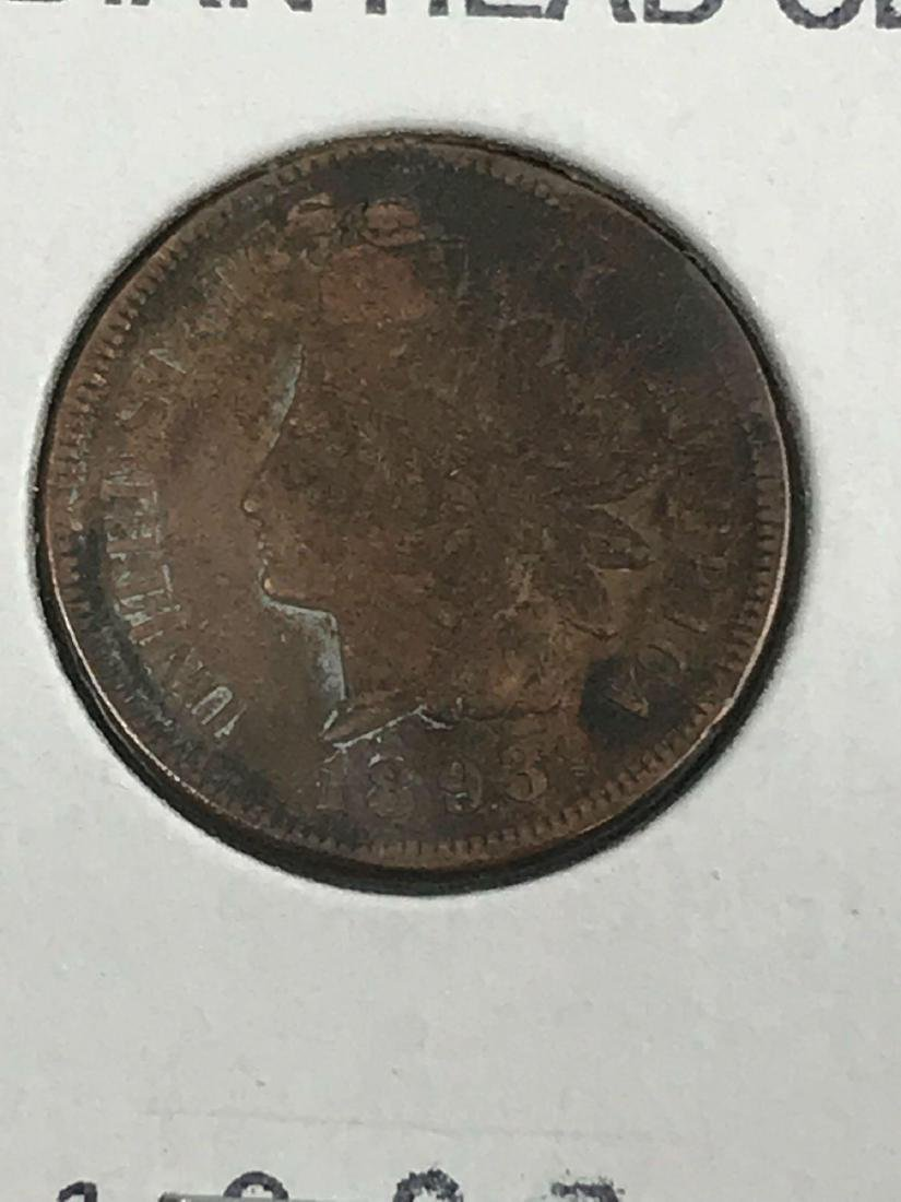 6 Indian Head U.S. One Cent Coin - 8