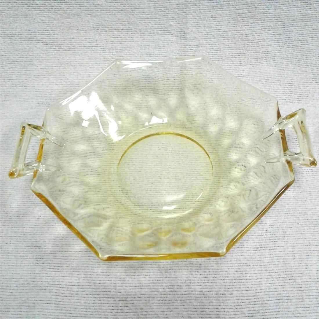 Amber Glass Candy Dish