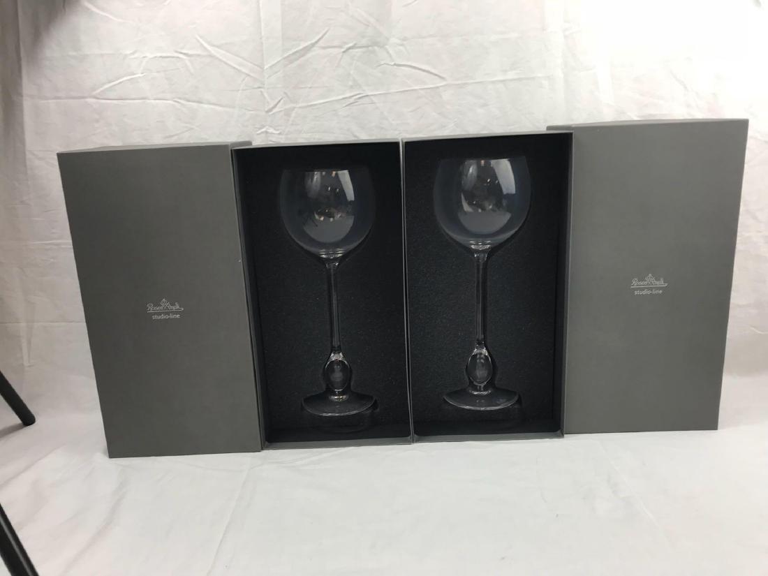 2 Rosenthal Studio Wine Glasses, Extravagant Burgundy - 3