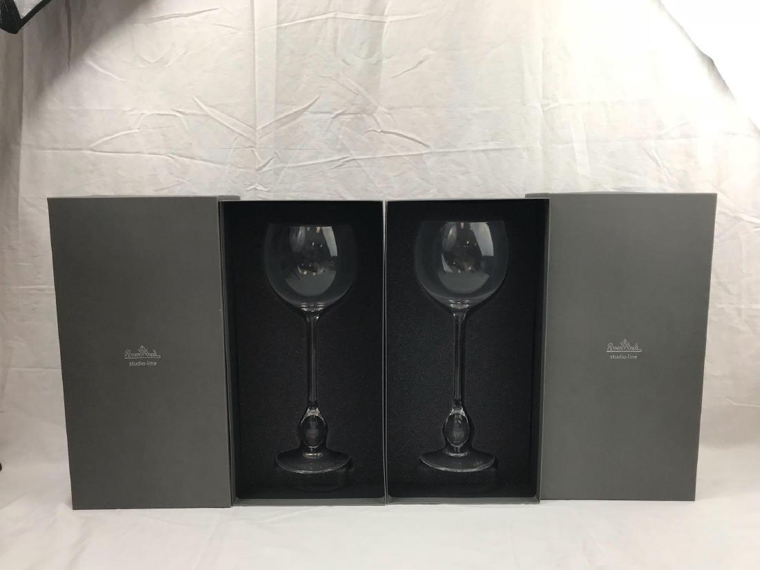 2 Rosenthal Studio Wine Glasses, Extravagant Burgundy - 4