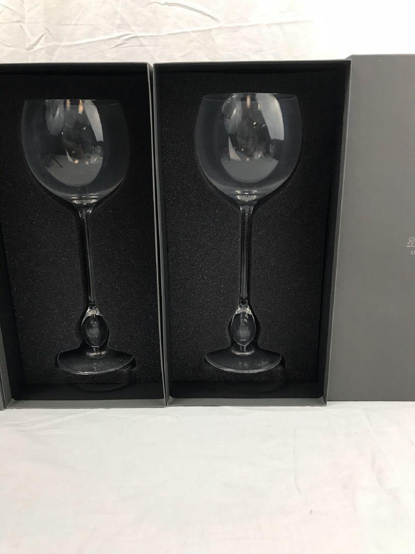 2 Rosenthal Studio Wine Glasses, Extravagant Burgundy - 5