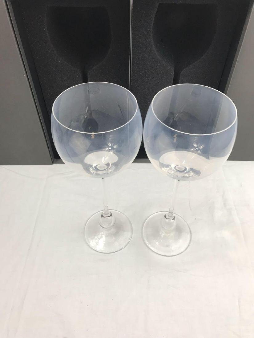 2 Rosenthal Studio Wine Glasses, Extravagant Burgundy - 7