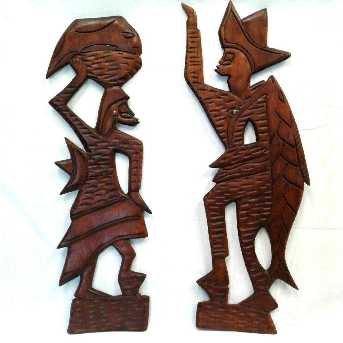 Carved Tribal Wooden Wall Art
